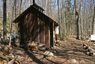 The sugar shanty is located along the Drumlin Trail. Photo by Terry Sprague