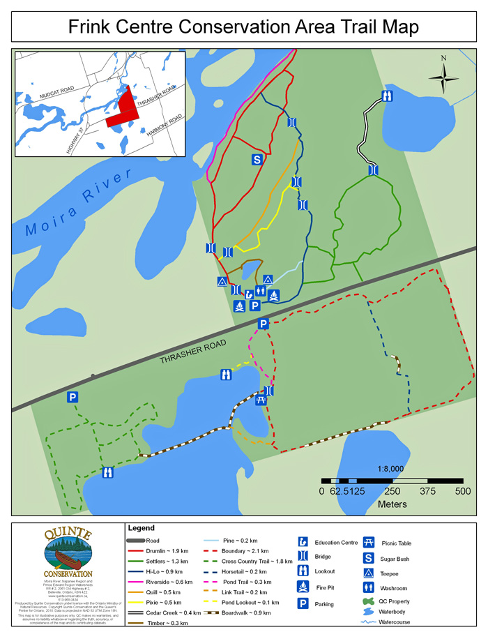 Traail Map. Courtesy of Quinte Conservation